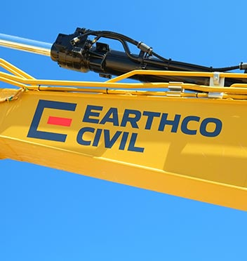 Earthco Civil Plant signage digger